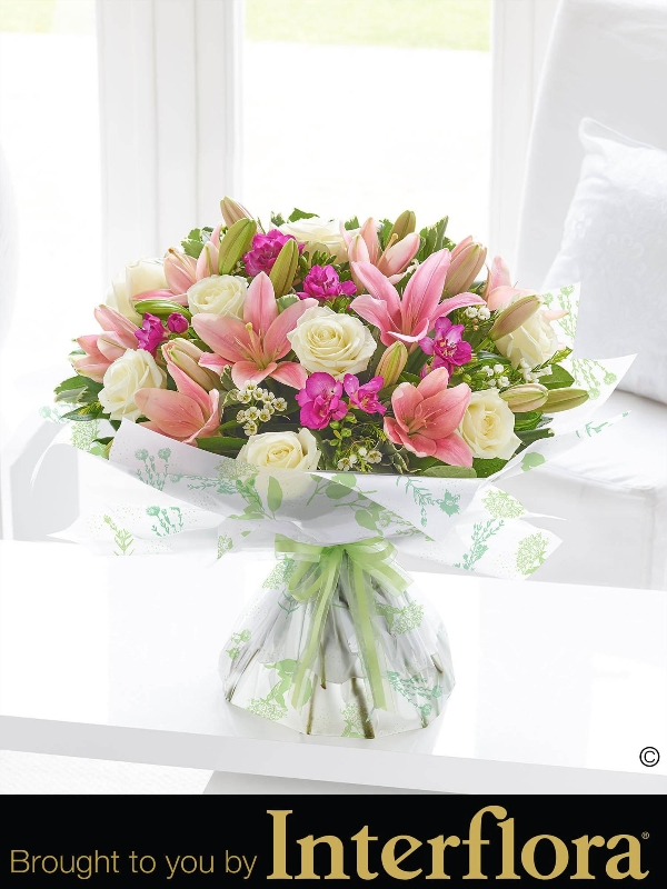 Spring rose lily and freesia hand tied flower fashions spring rose lily and freesia hand tied mightylinksfo