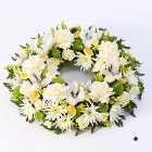 Classic Wreath   Yellow and Cream *