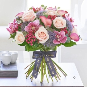 Luxury Calla Lily and Orchid Blush Pink Hand tied
