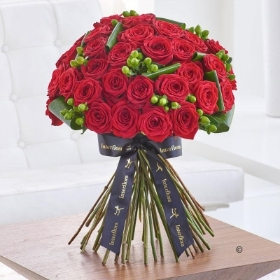 Luxury Crimson Naomi Rose Hand tied