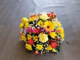 Yellow and Red Posy