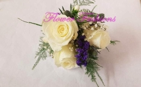 Purple & White Hand Posy HP01