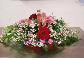 Rose & Lily Basket BSK04