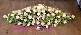 Rose & Gypsophila Casket Spray