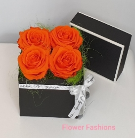Infinity Orange Rose Box